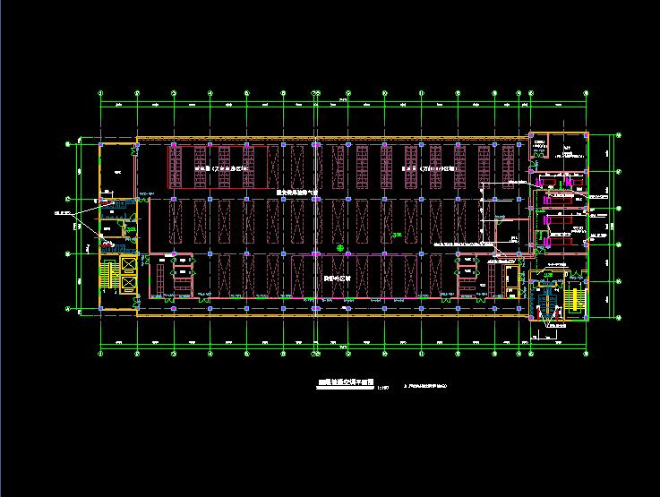 某市洁净厂房空调系统cad平面布置施工图图片2