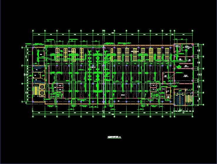 某市洁净厂房空调系统cad平面布置施工图图片3