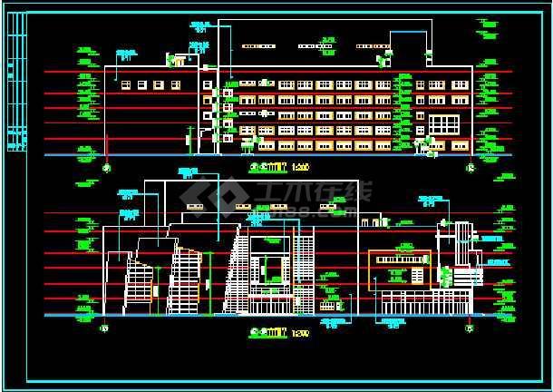 影剧院建筑设计CAD方案施工图纸-图1