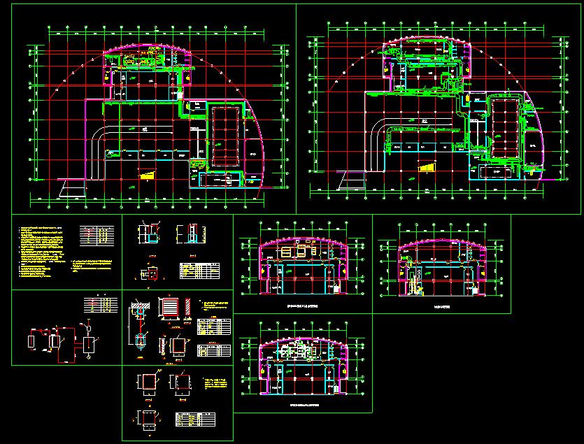 某市住宅地下室中央空调全套CAD平面设计施工图纸图片1