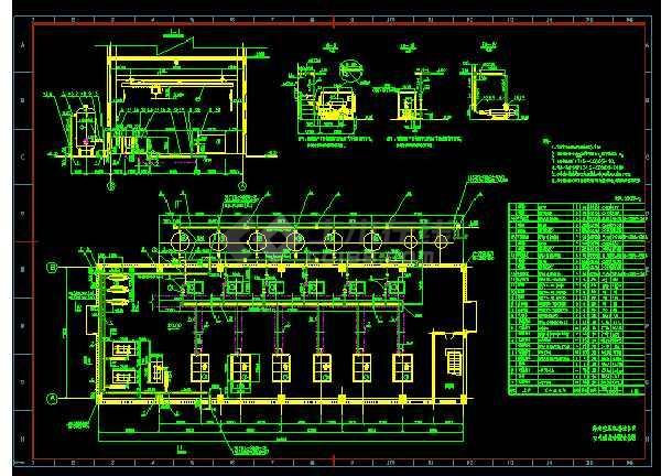 压缩机房系统及布置cad平面设计详图-图1