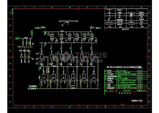 压缩机房系统及布置cad平面设计详图-图2