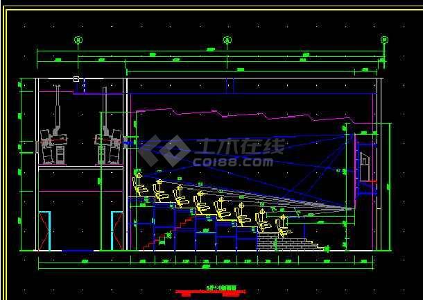 国际电影院全套建筑施工cad设计方案图纸-图3