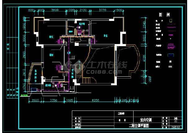 某市住宅户型中央空调设计cad平面施工方案图-图2