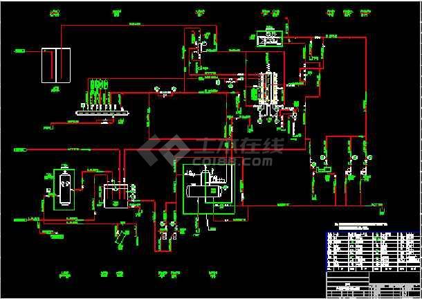 某工厂10t燃煤锅炉房整套平面cad设计图、流程图-图1