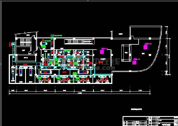 某茶楼中央空调施工cad设计方案图纸-图1