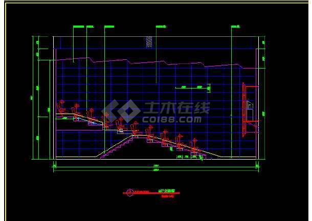 国际电影院建筑施工cad设计方案详图-图1