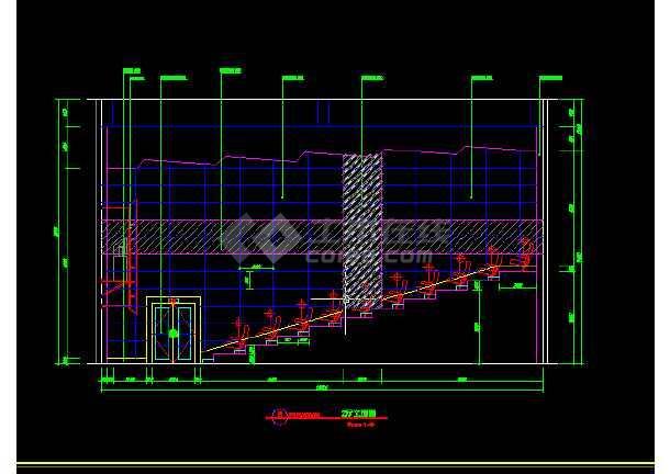 国际电影院建筑施工cad设计方案详图-图2