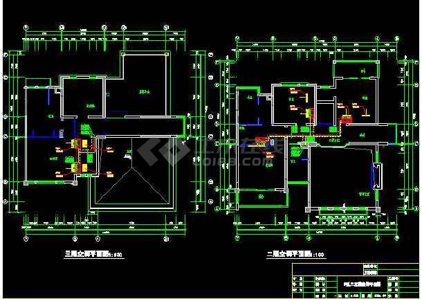 某市高端DF户型别墅空调施工平面图-图2