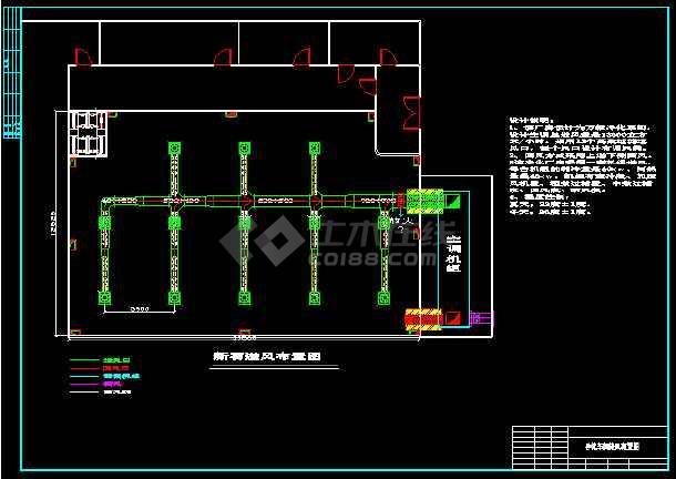 某净化厂厂房布置cad怕平面施工设计图-图2