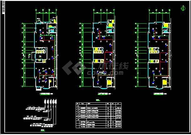 某市银行VRV多联机空调系统cad施工设计图-图2