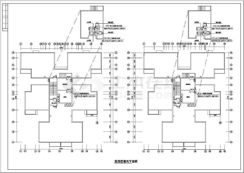 某高层住宅楼防烟排烟施工图纸(标注详细)-图2