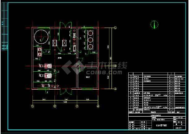 某换热站全套管道系统cad平面设计施工图纸-图1
