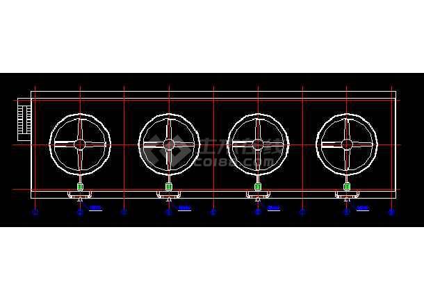 某地4乘以2000吨大型冷却塔cad详细设计施工图纸-图2