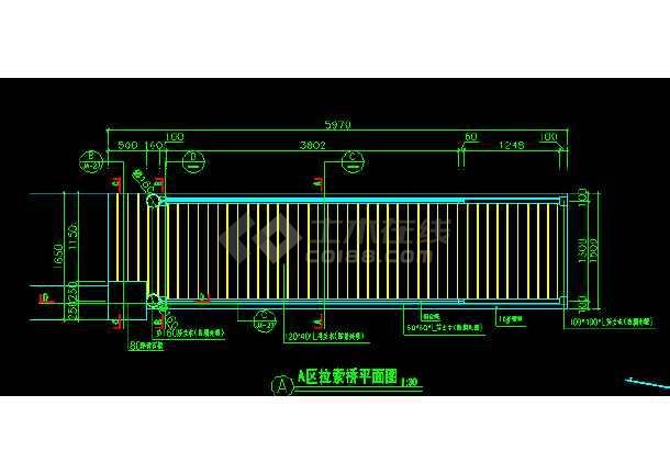 某地拉索木桥cad施工详细设计图-图1