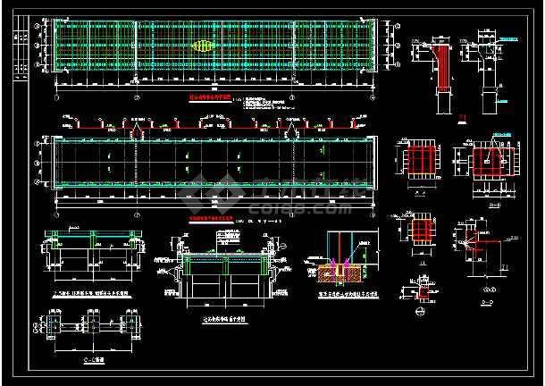 某地区过街天桥cad道路设计详细施工图纸-图3