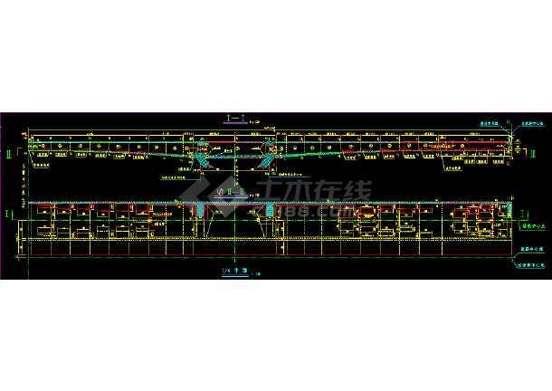 某钢结构桥梁上部cad构造详细施工设计图-图2