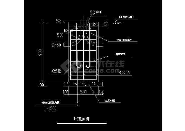 道路照明设计cad施工设计图纸详图-图2