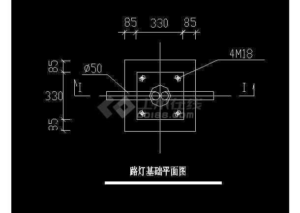道路照明设计cad施工设计图纸详图-图3