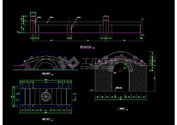 多种古桥经典样式cad施工详细设计图-图1