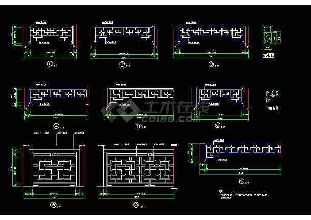 多种古桥经典样式cad施工详细设计图-图2
