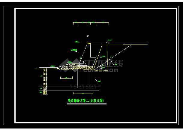 黄埔大桥堤防加固断面详细方案施工cad图纸-图3