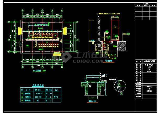 某省污水处理厂CAD平面电气设备施工图-图3