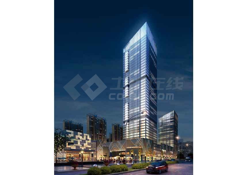 超高层商业大厦综合体建筑设计方案文本-图1