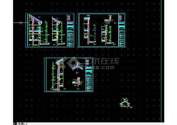 点击查看北京玻璃台村新农村别墅设计全套CAD图纸第1张大图
