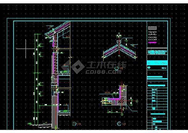 点击查看北京玻璃台村新农村别墅设计全套CAD图纸第2张大图
