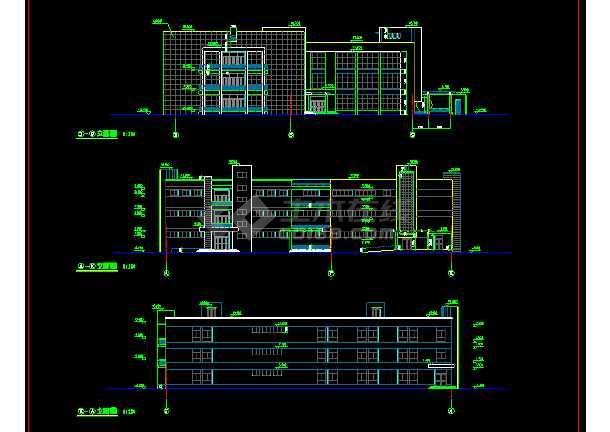 某文化娱乐建筑CAD设计施工平面图纸-图1