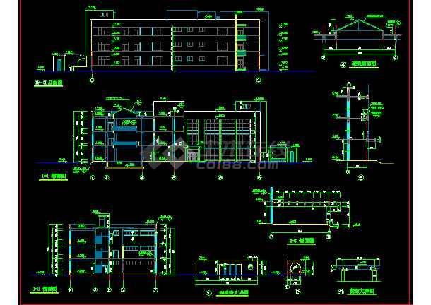 某文化娱乐建筑CAD设计施工平面图纸-图2