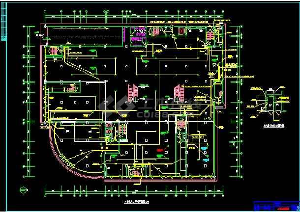 三十层商场电气工程cad施工详情图纸-图1