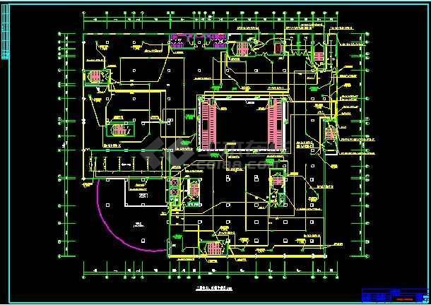 三十层商场电气工程cad施工详情图纸-图2