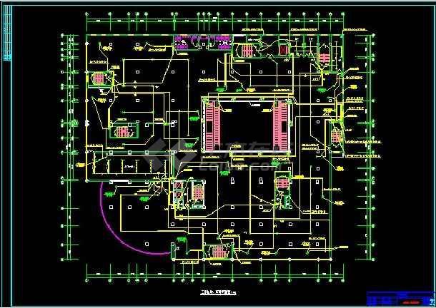 三十层商场电气工程cad施工详情图纸-图3