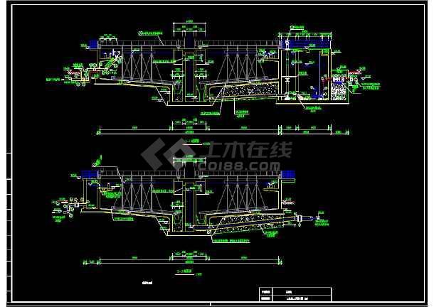 2万吨每天某污水厂二沉池工艺图-图1