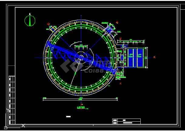 2万吨每天某污水厂二沉池工艺图-图3