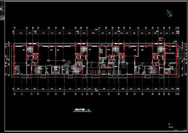 综合楼电力电气设计cad平立面施工图-图3