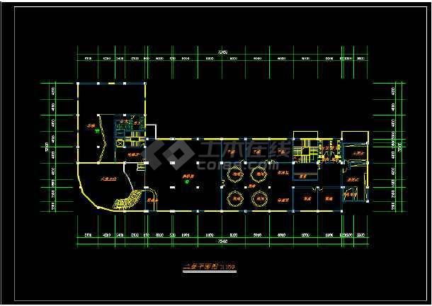 某星级酒店规范方案建筑设计CAD图纸-图1