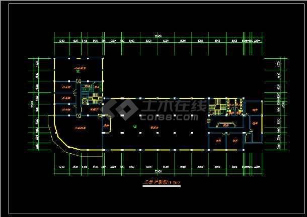 某星级酒店规范方案建筑设计CAD图纸-图2