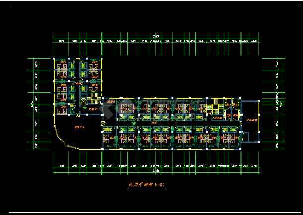 某星级酒店规范方案建筑设计CAD图纸-图3