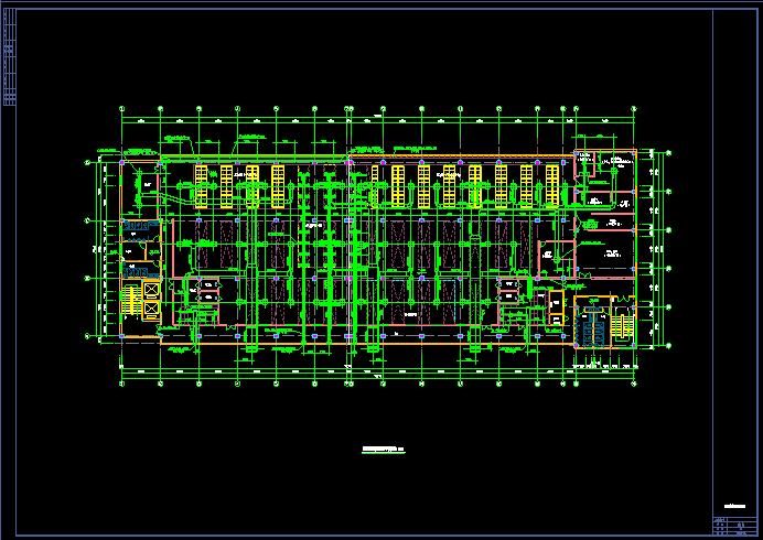 某地区现代洁净厂房空调系统cad平面布置施工图图片3