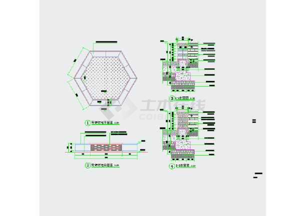 鹤城防城古街复原景观工程设计图纸-图2