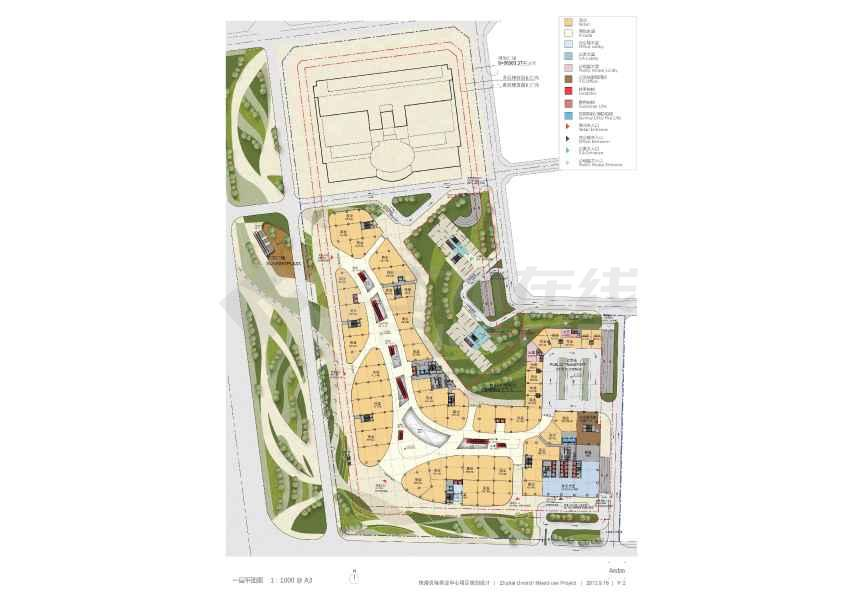 154米超高层商业单体建筑设计方案文本(效果图)-图2