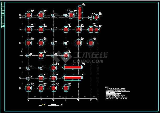 医院肿瘤病房大楼主体结构CAD方案设计施工图-图3