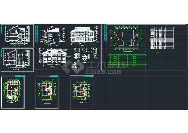 点击查看南京某地欧式错层别墅CAD施工图第1张大图