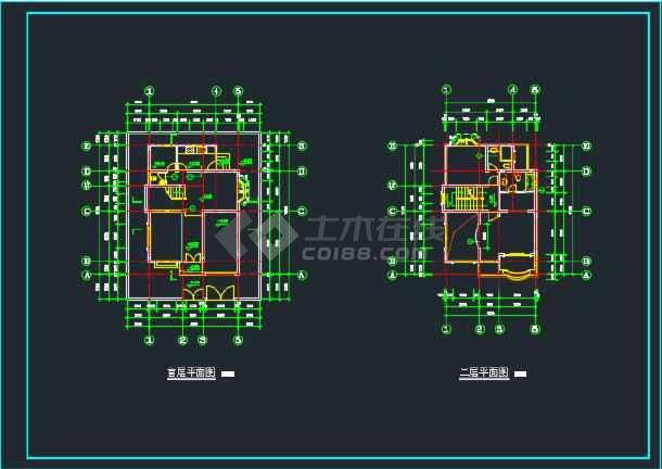 北京某地三层别墅CAD设计施工图-图1
