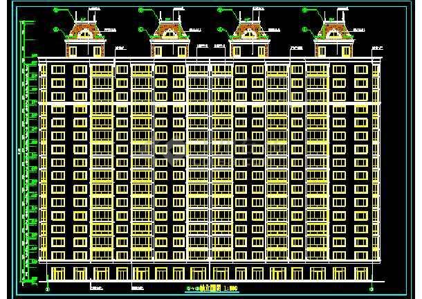 某地十六层高层商务楼cad施工设计图-图1