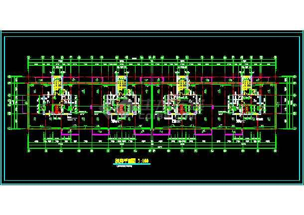 某地十六层高层商务楼cad施工设计图-图3