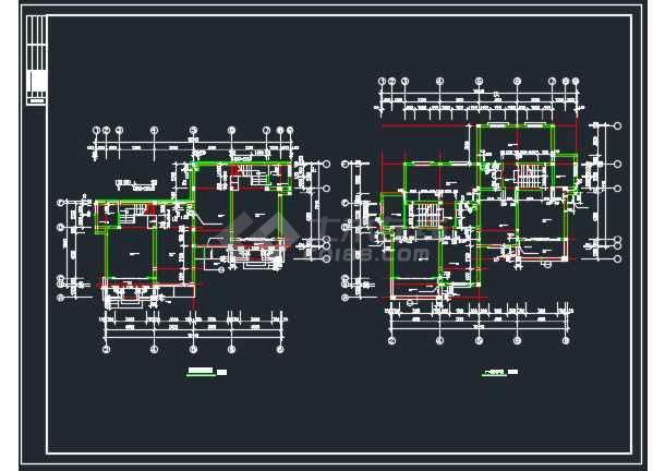 点击查看某地山体别墅全套建筑CAD施工图第2张大图